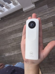 This is the size of the Ricoh Theta Camera.