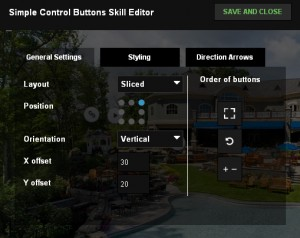 Allows you to customize the control buttons on a 360° virtual tour.